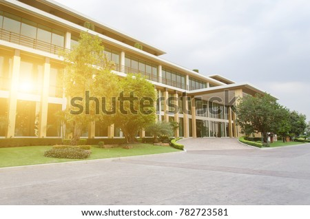 side view of business office building #782723581