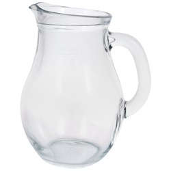 Side view of Isolated glass water jug
