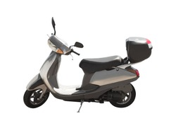 Side view of modern scooter isolated on white background. Urban transport