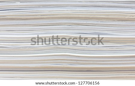Side View Of Stack Of Papers For Recycling Stock Photo ...
