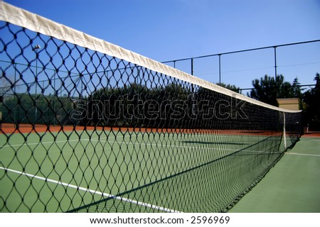 side view of tennis court net