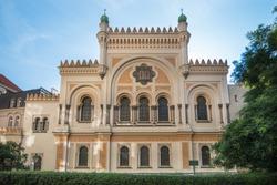 Side view of the Spanish Synagogue at Prague's Jewish Quarter - Prague, Czech Republic