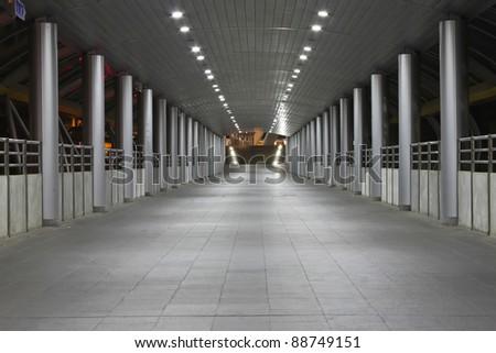 sidewalk footbridge