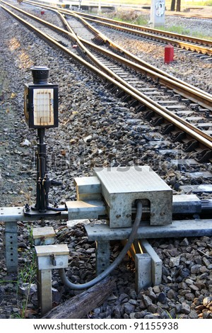 Siding control for railway  at station, Thailand