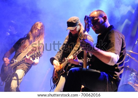 SIEDLCE - JANUARY 29: Band Upstream performs on stage at CKiS Theatre on January 29, 2011 in Siedlce, Poland