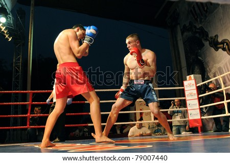 SIEDLCE, POLAND - JUNE 10: Tadas Jonkus(LT) VS Zamin Guseinov (BY) at Victory and Glory Finals Tournament on May 28, 2011 in Siedlce, Poland