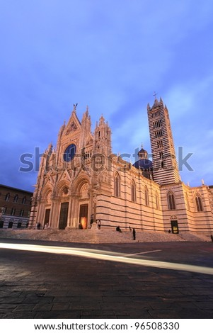 Siena Cathedral at twilight, Italy