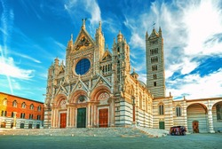 Siena Cathedral (Duomo di Siena) is a medieval church, now dedicated to the Assumption of Mary, completed between 1215 and 1263, Siena, Italy