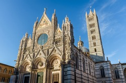 Siena Cathedral (Duomo di Siena) is a medieval church. Siena, Italy.