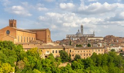 Siena Cathedral (Italian: Duomo di Siena) is a medieval church in Siena, Italy, dedicated from its earliest days as a Roman Catholic Marian church, and now dedicated to the Assumption of Mary.