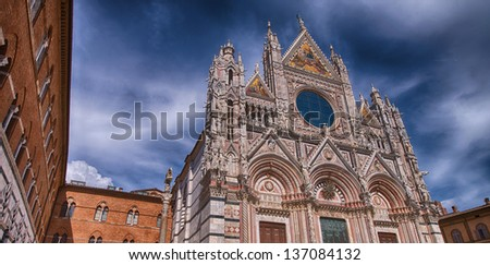 Siena, Italy. Wonderful view of Cathedral - Duomo.