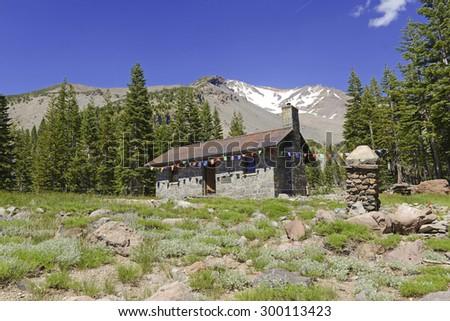 Sierra Club Stone Shelter on Mount Shasta, California