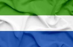Sierra Leone waving flag