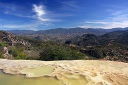 Sierra Madre del Sur scenery in Hierve El Agua
