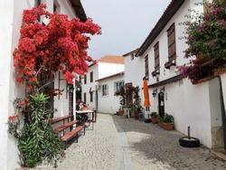 Sigacik streets, seaside town, quiet summer holiday, flowery streets, Seferihisar, Izmir, Turkey