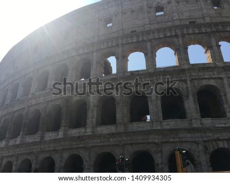 Sightseeing tour around Roma famous places. #1409934305