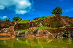 Sigiriya Lion Rock Fortress in Sri Lanka. King's swimming pool.