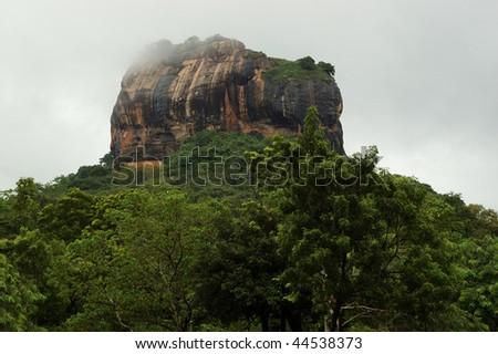 Sigiriya - Lion\'s rock in Sri Lanka,ancient fortress and buddhist monasteryone of the seven World Heritage Sites of Sri Lanka