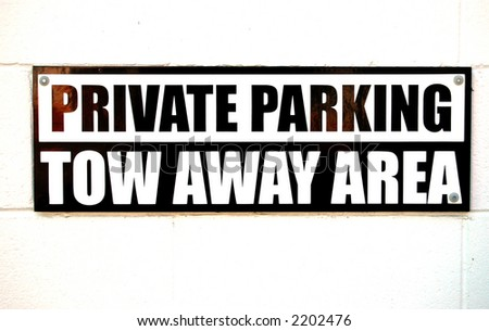 sign advising private parking