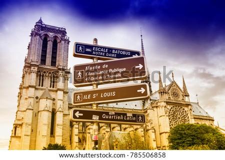 Sign and symbol in Paris. #785506858