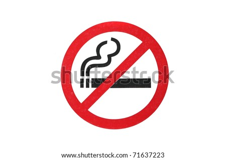 Sign don't Smoke Symbol in white background