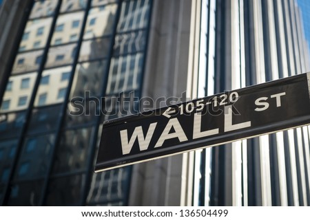 Sign for Wall Street in New York City