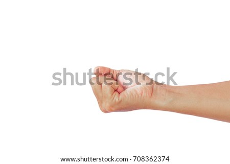 Sign hand image for design working. #708362374