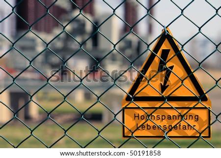 sign high voltage