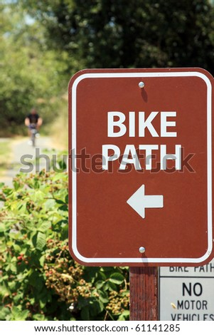 Sign in the public park - stock photo