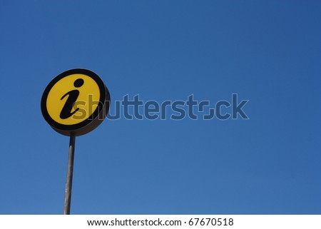 Sign information, the sky background