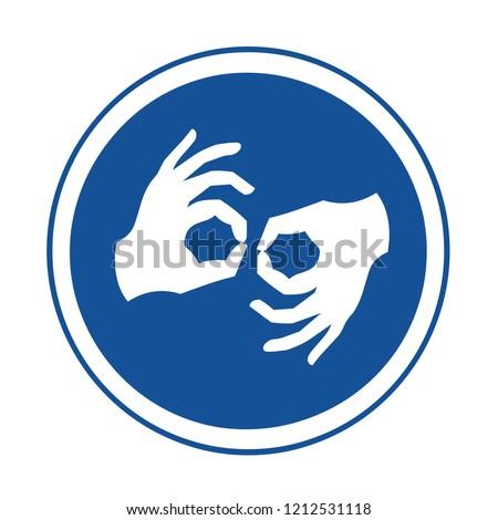 Sign language symbol #1212531118