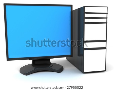 "sign ""my computer"" on a white background"