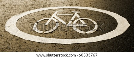 Sign of a cycle track