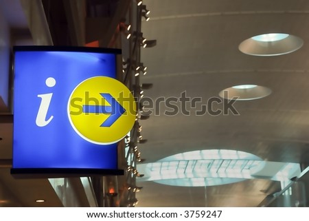 sign of information place, dubai airport,emirates