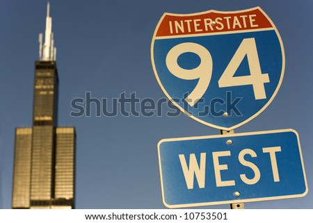 Sign of Interstate  94 in Chicago