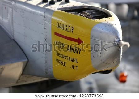 Sign on aircraft Danger Keep Away 4810