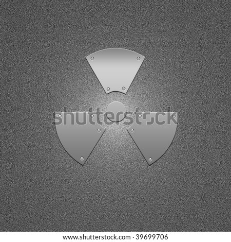stock photo : Sign on the prevention of radioactive infection. Threat and danger symbol.