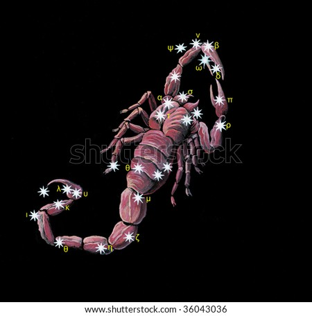 Sign on zodiac constellation The Scorpion (Scorpio)