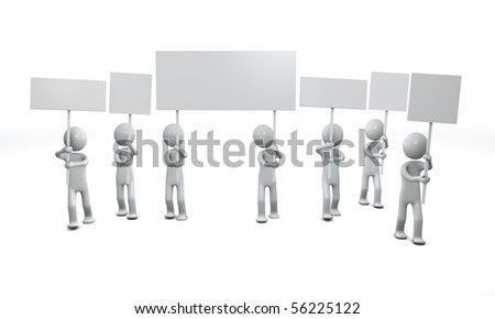 Sign people. Three-dimensional,  isolated on white