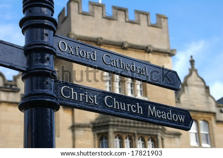 Sign post, Oxford, UK