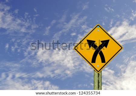 sign road on  board with sky background,abstract sign,business  symbol.