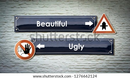 Sign with Beautiful