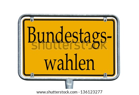 sign with the german words federal parliament election / federal parliament election