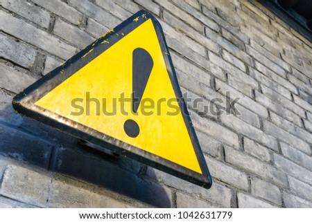 sign with wall #1042631779