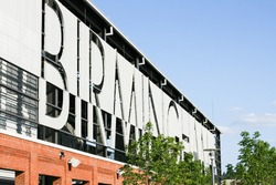 Signage for the city of Birmingham in front of Regions Field.