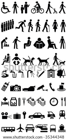 Signage people and objects graphics fully layered