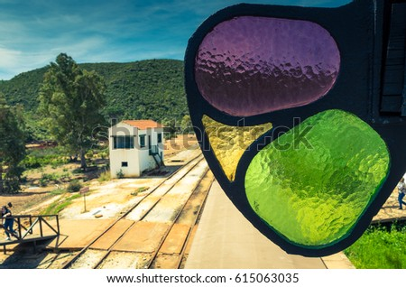 signal at los frailes station on minas de riotinto railway line