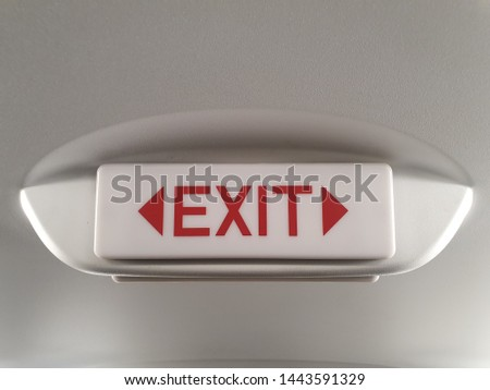 Signal exit ways for emergency. #1443591329