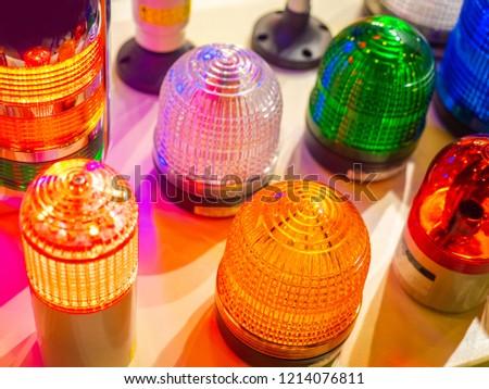 Signal lights. Signal beacons. Specials signals. Orange flasher. #1214076811