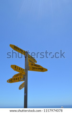 Signal post directions country #1157974078
